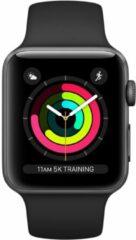 Apple Watch Series 3 42mm Spacegrijs aluminium - Zwart sportbandje