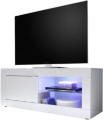 Pesaro Mobilia Tv-meubel Tonic 140 cm breed in hoogglans wit