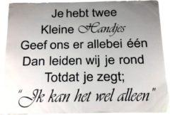 Redhart Muursticker - Quote - Zwart / Wit - 48 x 68 cm