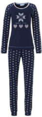 Pasha pyjama met printopdruk donkerblauw