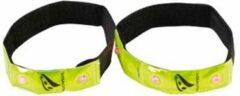 Rucanor Reflective - Reflectie armband - Set - LED - Fluorgeel