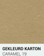 Bruine Gekleurdkarton notrakkarton Gekleurd karton caramel 19 A4 270 gr.