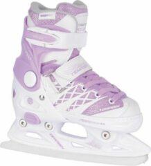 Paarse Tempish Kunstschaatsen verstelbaar CLIPS ICE Meisjes Wit/Violet 29-32