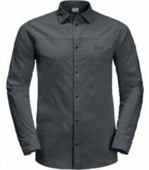 Jack Wolfskin - Kenovo L/S Shirt - Overhemd maat L, zwart