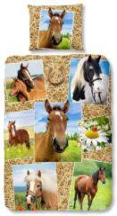 Kinderbettwäsche, Good Morning, »Pferdestall«, mit Pferdemotiven