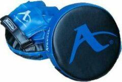 Karate-focushandschoenen (rond) Arawaza | zwart-blauw