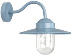 Blauwe KS Verlichting K.S. Verlichting Dolce Wandlamp Retro 27 x 27,5 cm - Blauw
