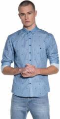 Lichtblauwe Victim Casual overhemd met lange mouwen licht blauw