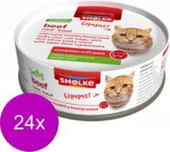 24x Smolke Soft Paté Kattenvoer Rund 80 gr