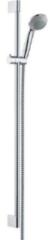 Hansgrohe Crometta 85 Unica glijstangset met Crometta 85 1jet handdouche 90cm met Metaflex doucheslang 160cm chroom 27729000