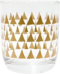 Transparante TAK Design Drinkglas Triangle Patterns 2 Laag - Glas - Ø7,8 x 8,8 cm - Koper