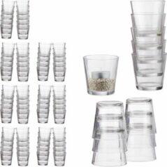 Relaxdays 96x waxinelichthouders - doorzichtig - glas - theelichtjeshouder - set