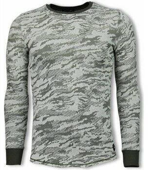 Afbeelding van Groene Sweater Uniplay Army Look Shirt - Long Fit Sweater