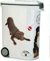 Witte Curver Voedselcontainer hond met wielen 54 L