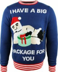 JAP Christmas JAP Foute kersttrui - Big package - Dames en heren - Maat L