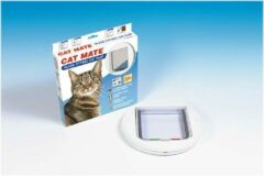 Catmate kattendeur 210 - kattenluik - glas - wit