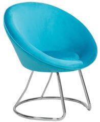Blauwe Beliani Floby Fauteuil Fluweel 56 X 70 Cm
