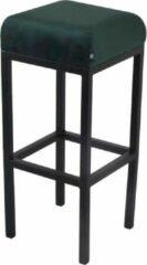 Damiware Barkruk velvet Bruce - Product Kleur: Velvet Donkergroen / Product Zithoogte: 75 CM