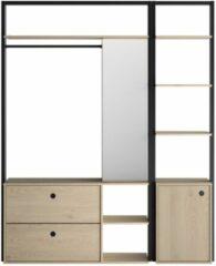 Naturelkleurige Gamillo Furniture Open kledingkast Duplex 163 cm breed in naturel kastanjehout