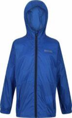 Pack It lichtgewichte, waterdichte, handig te verpakken wandeljas van Regatta met capuchon voor kinderen, opvouwbare Regenjas, maritiem blauw