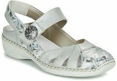 RIEKER 413V2-90 Ballerina zilver maat 40