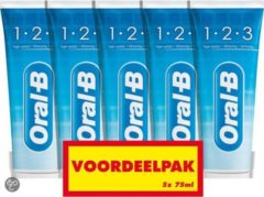 Oral-B ORAL B OB 5 Pack 1-2-3 Fresh Mint 5x75ml