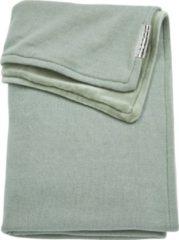 Groene Meyco Deken Basic Velours Knit Stone Green-Wiegje (75 x 100 cm)