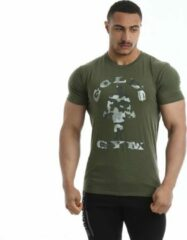 Kaki Gold's gym Classic Camouflage Joe T-shirt leger - L