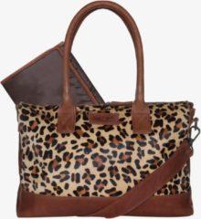 Bruine Mozz Bags MOZZ Luiertas Wild Ones Cognac-Leopard