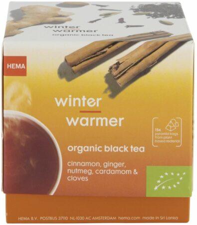 Afbeelding van HEMA Zwarte Thee Biologisch Winter Warming - 15 Stuks