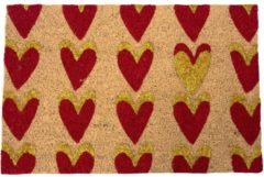 Kokos-Fußmatte Herzen miaVILLA Rot