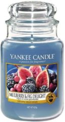 Blauwe Yankee Candle Large Jar Geurkaars - Mulberry & Fig Delight