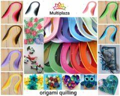 """Filigraan - Quilling papier """"Multiplaza"""" 9 delig set - 40 kleuren - 1000 stroken - Origami - decoratie - knutselen - creatief - versiering - kaarten - vouwen - rollen"""