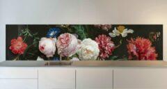 Rode SoWhat-design Keuken achterwand: stilleven met bloemen 305 x 70 cm