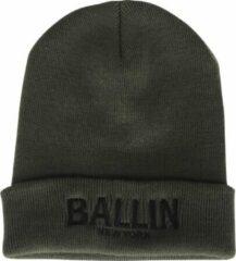 Groene Ballin Est. 2013 unisex muts army zwart geborduurd