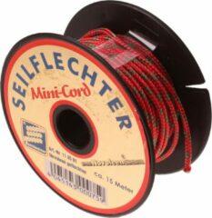 Rode Seilflechter Mini koord Novoleen, 1,5mm, 15m, assorti, 150 daN