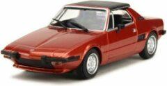 Bordeauxrode Fiat X1/9 1974 - 1:43 - MaXichamps