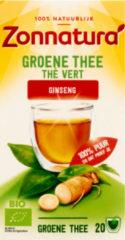 Zonnatura Groene Thee Bio Gingseng 20 stuks