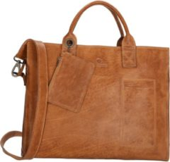 Zandkleurige Micmacbags Golden Gate - Laptoptas 15.6 inch - Donkerzand