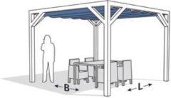 Blauwe Pergola - Nesling - Douglas - Stand-alone - Gebroken wit - 290x300 cm