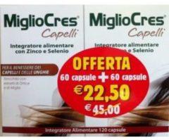 F&F Migliocres Capelli integratore donna OFFERTA 60 + 60 capsule