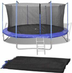 Merkloos / Sans marque Veiligheidsnet Zwart voor Ronde Trampoline 457CM - Net trampoline 4.57MTR - Trampolinenet - Trampolineveiligheidsnet