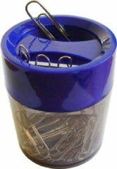 SDI - Paperclip dispensers - 60 Øx70mm - Inclusief 100 paperclips! - Blauw - 1 stuk