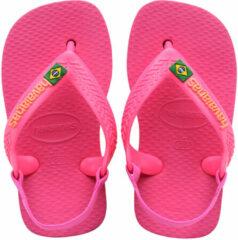 Roze Havaianas - HAV. BABY BRASIL LOGO II PINK FLUX 25/26 - PINK FLUX - BABY - Maat 25/26