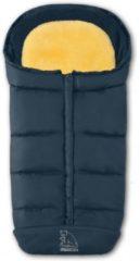 Schapenvachten Online Premium lamsvacht voetenzak marineblauw met uitneembaar lamsvel