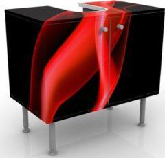 PPS. Imaging Waschbeckenunterschrank - Magical Flame - Badschrank Rot Schwarz