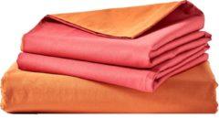 Van Morgen – Merzouga Moon - Dekbedovertrek set - 100% Percal katoen – Oranje / rood – 260 x 220 cm