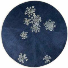 ESSENZA Lauren Vloerkleed Klein Indigo blauw - rond Ø90 cm