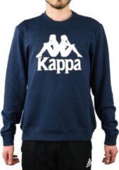 Kappa Sertum RN Sweatshirt 703797-821, Mannen, Marineblauw, Sporttrui casual maat: M