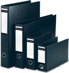 Pergamy ordner, uit karton, voor ft A5, staand, rug van 8 cm, zwart